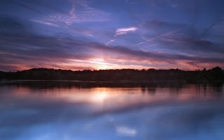 Sunset lake wallpapers and stock photos
