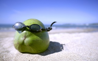 Fruit with glasses wallpapers and stock photos