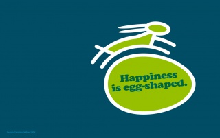 Random: Happiness is egg-shaped