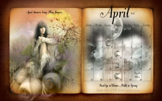 April 2010 Fantasy Calendar wallpapers and stock photos