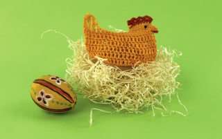 Easter chicken decoration wallpapers and stock photos