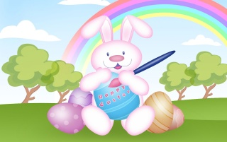 Easter rabbit wallpapers and stock photos