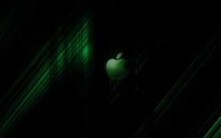 Apple Streak GREEN - By Jompa wallpapers and stock photos