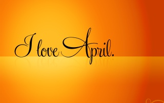 I love april wallpapers and stock photos