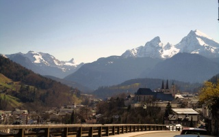 Berchtesgaden View wallpapers and stock photos