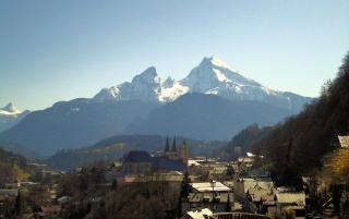 Berchtesgaden and Watzmann wallpapers and stock photos