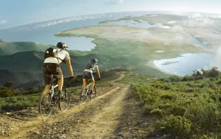 Bicycle trip wallpapers and stock photos
