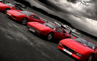 Red Ferrari cars wallpapers and stock photos