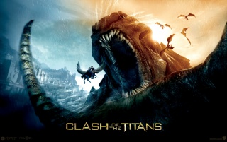Clash of the Titans - furious monster wallpapers and stock photos