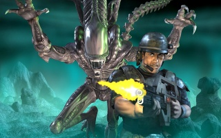 Aliens vs. Predator 2 wallpapers and stock photos