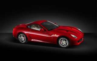 Side Ferrari 599 GTB wallpapers and stock photos