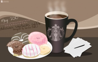Starbucks-Kaffee und Donuts wallpapers and stock photos