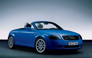 Audi TT Advance blue wallpapers and stock photos