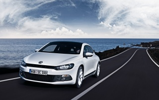 Volkswagen Scirocco speeding wallpapers and stock photos