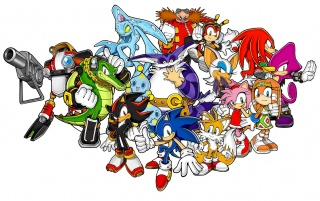 Sonic the Hedgehog and Friends wallpapers and stock photos