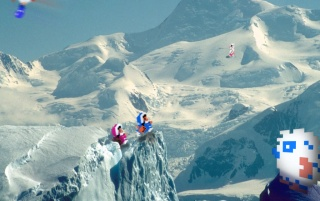 Retro: Ice Climbers wallpapers and stock photos