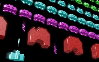 Retro: Space Invaders wallpapers and stock photos