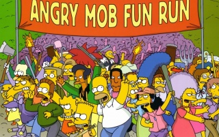 Random: Simpsons: Angry Mob Fun Run