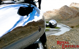 Royal Enfield reflection wallpapers and stock photos