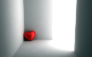 Red heart in corner wallpapers and stock photos