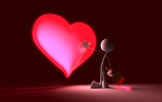 Touch my red heart wallpapers and stock photos