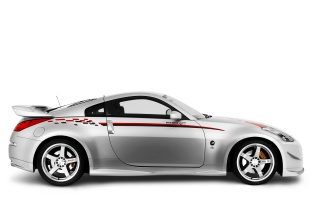 Nissan 350Z left wallpapers and stock photos