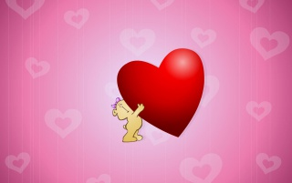 Big red heart for you wallpapers and stock photos