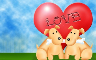 Happy dogs heart wallpapers and stock photos
