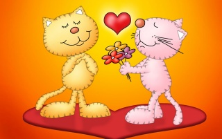 Love for cats wallpapers and stock photos