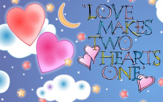 Love make one heart wallpapers and stock photos