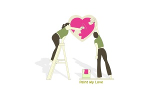 Paint my love wallpapers and stock photos