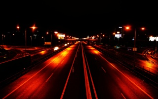 Highway in night wallpapers and stock photos
