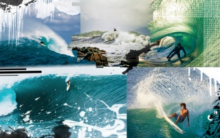 Surf Collage wallpapers and stock photos