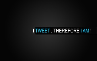 I tweet, therefore I am! wallpapers and stock photos