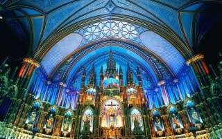 Notre-Dame Basilica (Montreal) wallpapers and stock photos