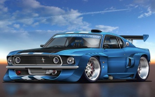 RACING MUSTANG wallpapers and stock photos
