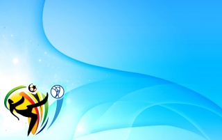 World Cup 2010 logo blue wallpapers and stock photos