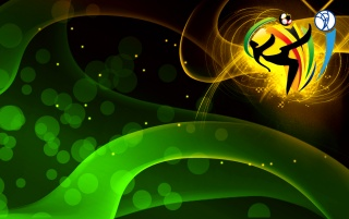 World Cup 2010 in green wallpapers and stock photos