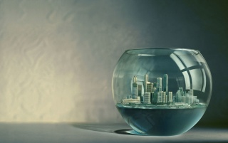 City in aquarium wallpapers and stock photos