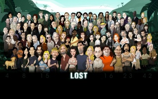 LOST cast caricature wallpapers and stock photos