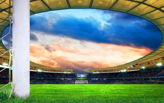 Football field wallpapers and stock photos
