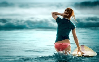 Surf girl wallpapers and stock photos