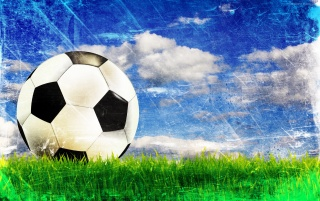 Ball on the grass wallpapers and stock photos