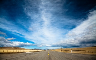 Straight road wallpapers and stock photos