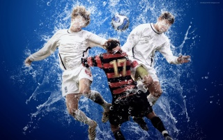 Footbal splash wallpapers and stock photos