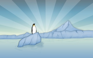 Lonely penguin wallpapers and stock photos