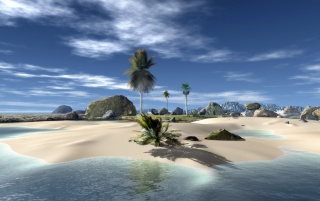 3D Beach wallpapers and stock photos