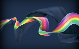 Rainbow Ribbon wallpapers and stock photos