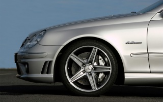 CLK 63 AMG Front wallpapers and stock photos