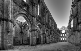 San Galgano Abbey Italy wallpapers and stock photos